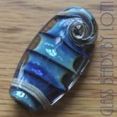 Blue 'spine' bead