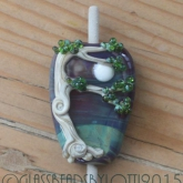 Handcrafted lampwork tree bead