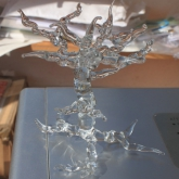Hand-sculptured-glass-'Tree'