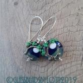 Windy tree bead earrings