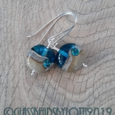 Turquoise beach bead earrings