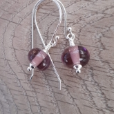 Light amythyst and sterling silver earrings