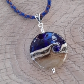 Cobalt blue beach bead necklace