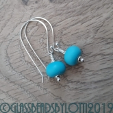 Light turquoise etched earrings