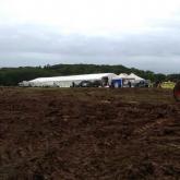 Mud-back-of-craft-tent
